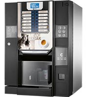 Des machines à café et distributeurs de boissons et snacking